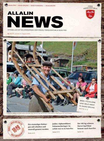 Allalin News Nr. 11 - SAAS-FEE | SAAS-GRUND | SAAS-ALMAGELL | SAAS-BALEN