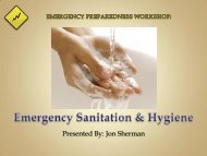 Sanitation & Hygiene in Emergencies - I Will Prepare