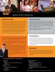 Spears School of Business - Office of Undergraduate Admissions