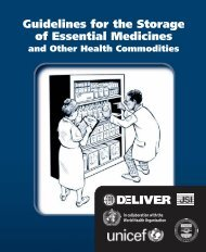 Guidelines for the Storage of Essential Medicines and Other Health ...