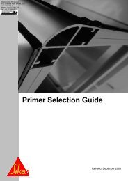 Download: Sika Primer Selection Guide - Waterproofing Warehouse