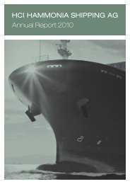 HCI HAMMONIA SHIPPING AG Annual Report 2010
