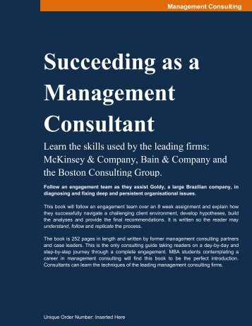 Succeeding as a Management Consultant - Capability Center
