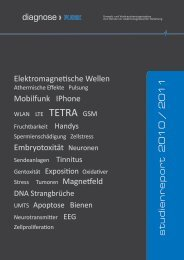 s tudie nr epor t 20 10 / 2011 diagnose FUNK - Baubiologie Herberg
