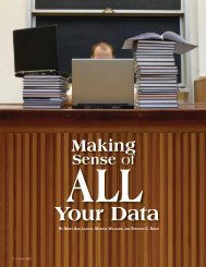 Making Sense of All Your Data - National Association of Secondary ...