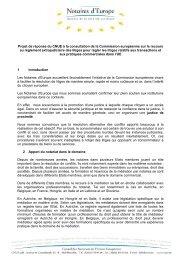 Projet de réponse du CNUE à la consultation de la Commission ...