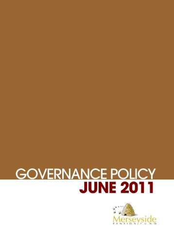 Governance Policy June 2011 - THE LOCAL GOVERNMENT ...