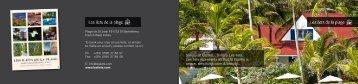 Téléchargez la brochure des Îlets de la plage (format PDF)