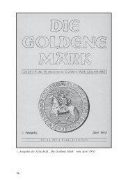 """46 1. Ausgabe der Zeitschrift """"Die Goldene Mark"""" vom April 1950"""