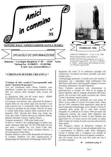 amici in cammino n. 35 - Associazione Santa Maria Torino