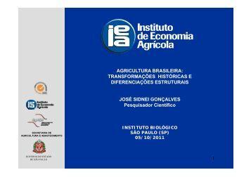 AGRICULTURA BRASILEIRA - IEA - Governo do Estado de São Paulo