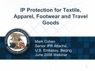 IP Protection For Textile, Apparel, Footwear And Travel Goods