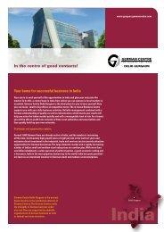 Download short profile. - the German Centre Delhi.Gurgaon in India!