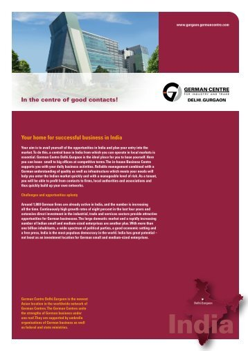 Download short profile. - the German Centre Delhi.Gurgaon in India!