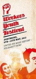 Flyer für das Workers Youth Festival