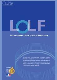 La LOLF appliquée aux associations