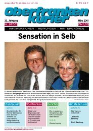 Sensation in Selb