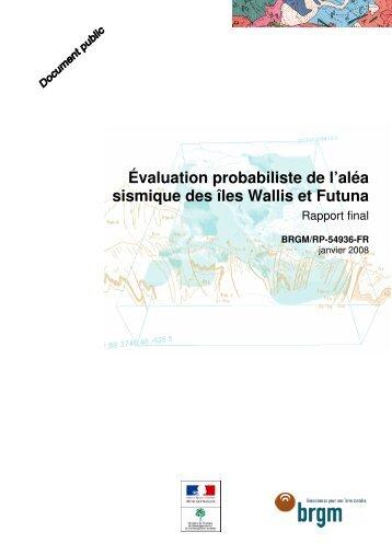 Wallis et Futuna - Le Plan Séisme