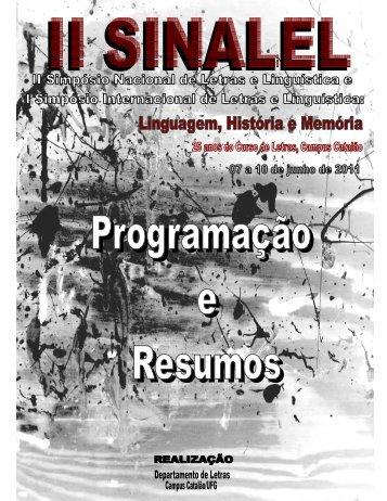resumos - Letras-II SINALEL - UFG