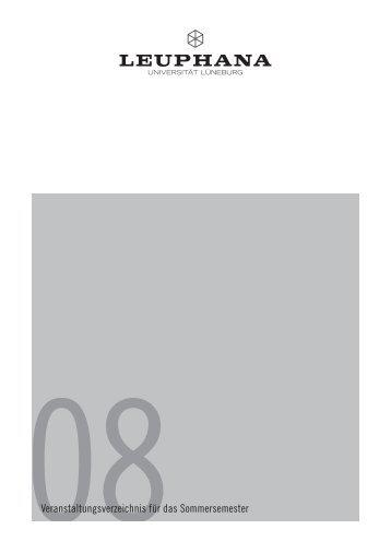 08Veranstaltungsverzeichnis für das Sommersemester - AStA