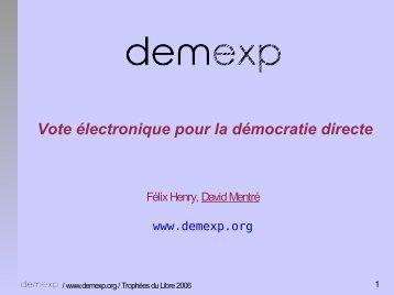 Vote électronique pour la démocratie directe - Linux-France