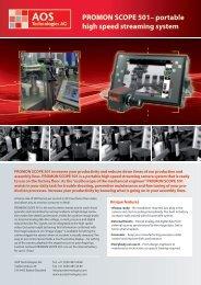 PROMON SCOPE 501– portable high speed ... - MJM Technology