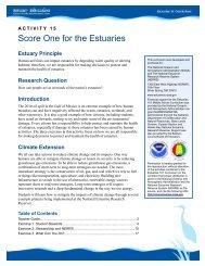 Score One for the Estuaries Teacher Guide - Estuaries NOAA