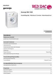 Produktdatenblatt Gorenje WA 7439 - Red Zac