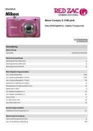 Produktdatenblatt Nikon Coolpix S 3100 pink - Red Zac