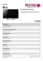 Produktdatenblatt LG 42 LM 615 S schwarz - Red Zac