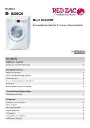 Produktdatenblatt Bosch WAQ 28410 - Red Zac