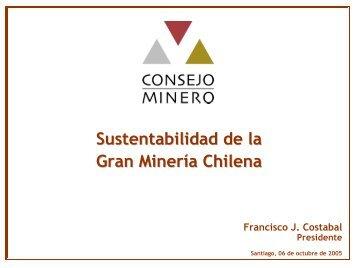 Sustentabilidad de la Gran Mineria Chilena