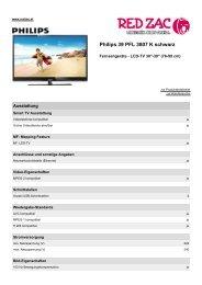 Produktdatenblatt Philips 39 PFL 3807 K schwarz - Red Zac