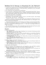 Richtlinien für die Abfassung von Manuskripten für - Waldviertler ...