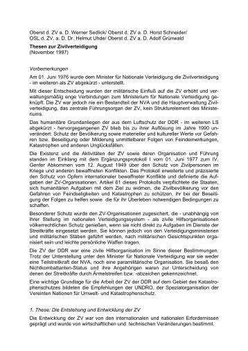 Thesen zur Zivilverteidigung - AGGI-INFO.DE