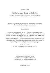 Die Schwarze Kunst im Eichsfeld