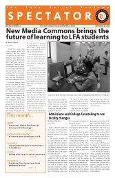 September 2013 Spectator - Lake Forest Academy