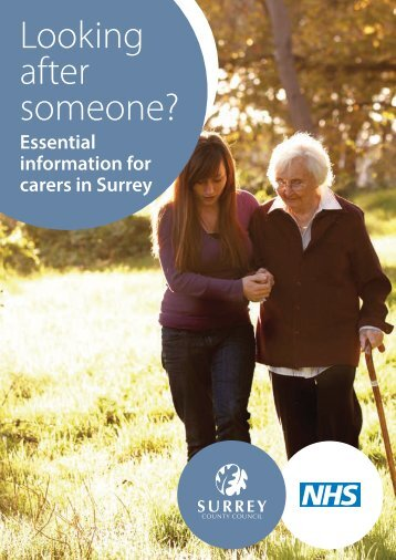 Looking after someone? Essential information for carers in Surrey