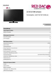 Produktdatenblatt LG 32 LK 450 schwarz - Red Zac