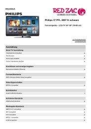 Produktdatenblatt Philips 37 PFL 4007 K schwarz - Red Zac