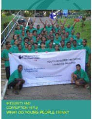 WHAT DO YOUNG PEOPLE THINK? - Transparency International Fiji