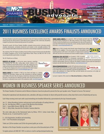 The Business Advocate Jan. 2011 - Tempe Chamber of Commerce
