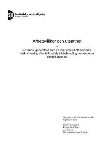 Arbetsvillkor och utsatthet en studie - RFSL