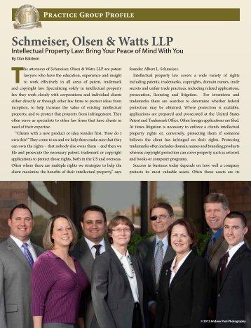 May 2012 Attorney at Law Magazine - Schmeiser, Olsen & Watts, LLP