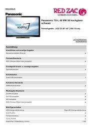 Panasonic TX-L 42 EW 30 hochglanz- schwarz - Red Zac