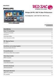 Produktdatenblatt Philips 40 PFL 5537 K titan FH-Exclusiv - Red Zac