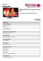 Produktdatenblatt Philips 32 PFL 4037 K schwarz ... - Red Zac