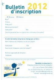 Bulletin d'inscription - EFA