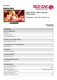Produktdatenblatt Philips 42 PFL 7486 K anthrazit ... - Red Zac