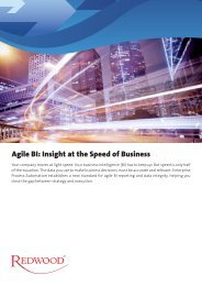 Agile BI: Insight at the Speed of Business - Redwood Software